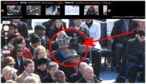 Alien con sombrero en la toma de posesión de Obama